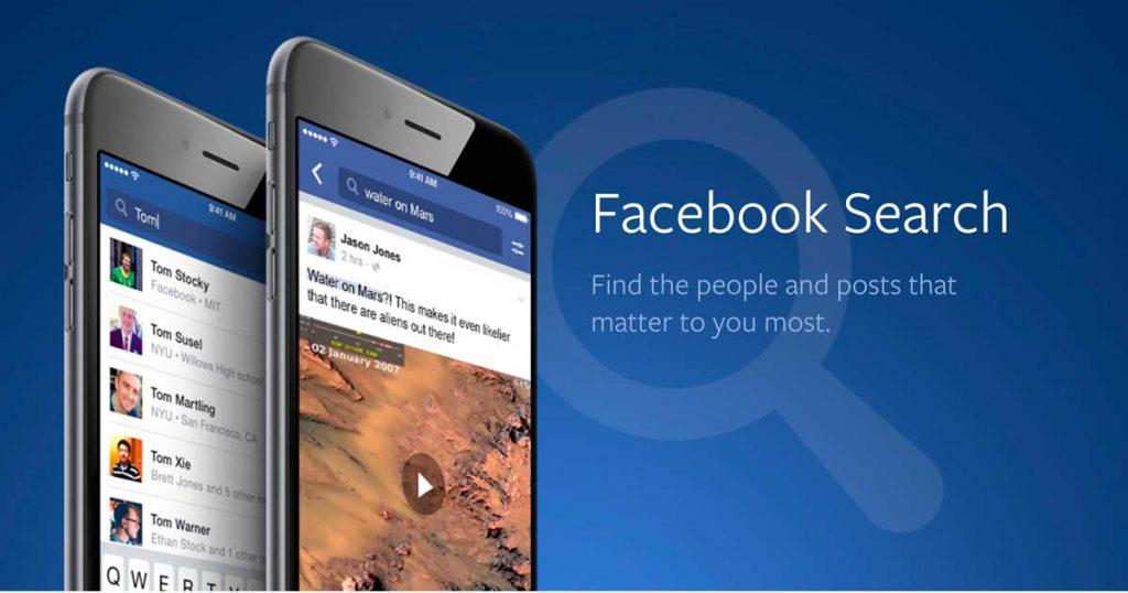 Búsquedas en Facebook. SEO para Facebook