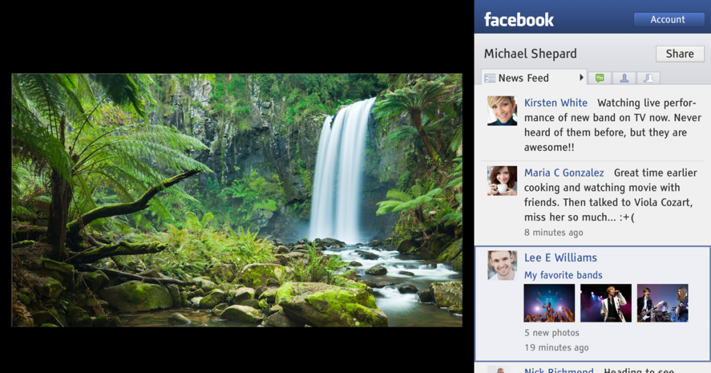 Facebook y Televisión