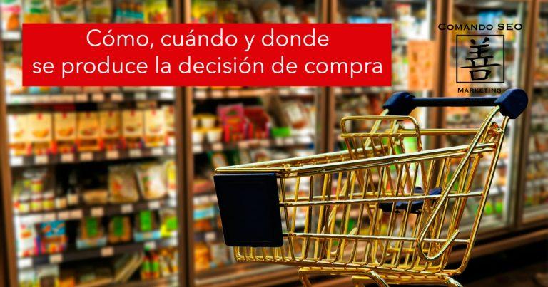 ¿Cómo, cuándo y donde se toma la decisión de comprar?