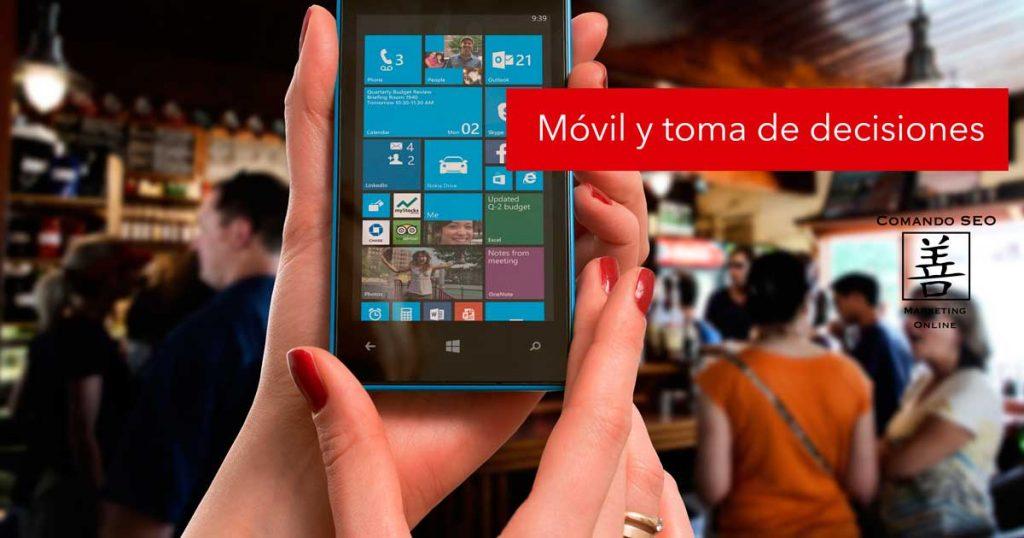 Uso del móvil en la toma de decisiones durante el proceso de compra