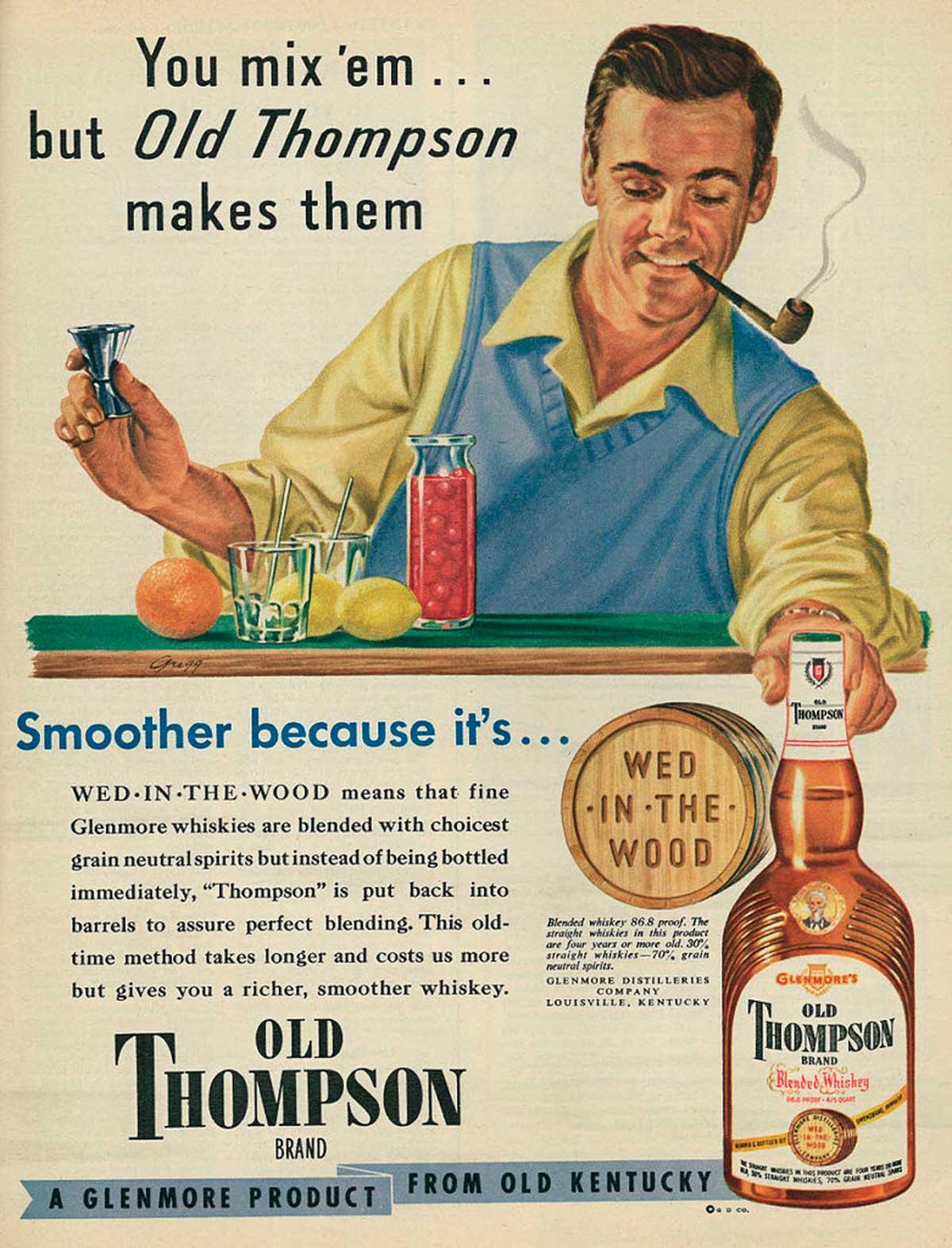 Publicidad en imágenes. Old Thompson Whiskey